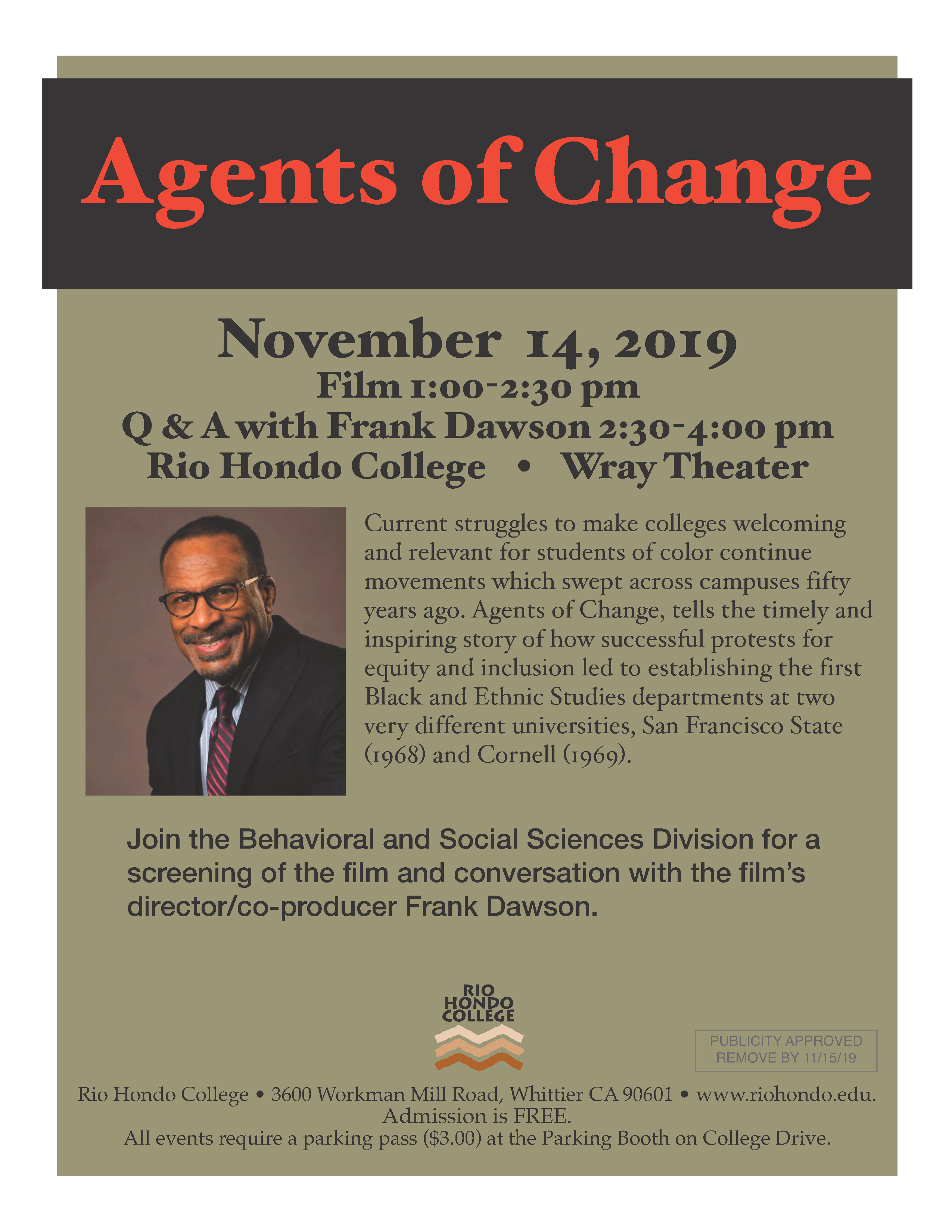 Agents of Change - Film Screening & Conversation with Director Frank Dawson @ Wray Theater