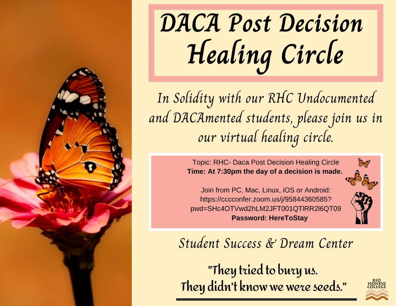DACA post decision healing circle