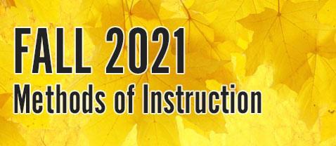 2021 methods of instruction