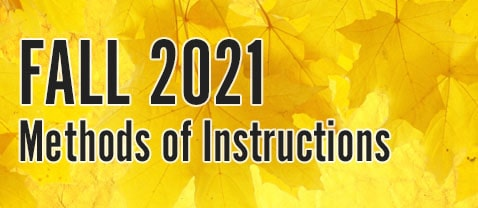 fall 2021 methods of instructions